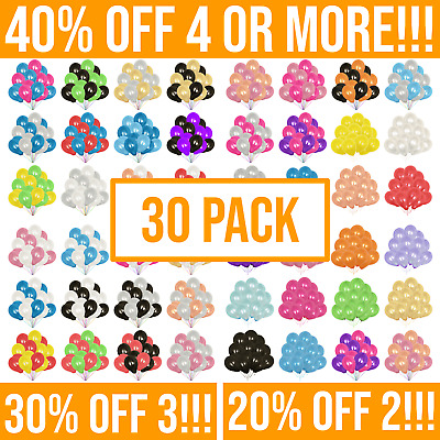 £2.45 • Buy 30 Pack Of Balloons For Birthday Party. Pearl Latex Ballons. 10  Helium Baloons.