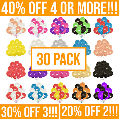 £2.69 • Buy 30 Pack - Pearl 10  Latex Balloons. Helium Baloons For Wedding & Birthday Party