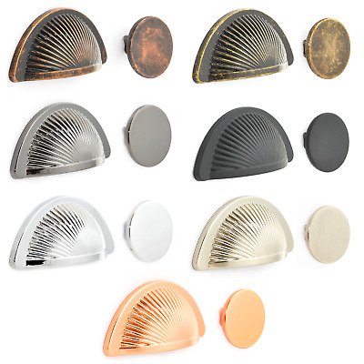 £3.15 • Buy Half Moon Shaker Cup Handles Knobs To Match Drawer Kitchen Cabinet Pull Cupboard