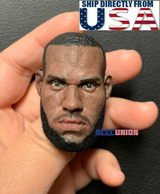 $49.99 • Buy 1/6 LeBron James Soft Mustache Head For 12  Enterbay Hot Toys PHICEN Figure