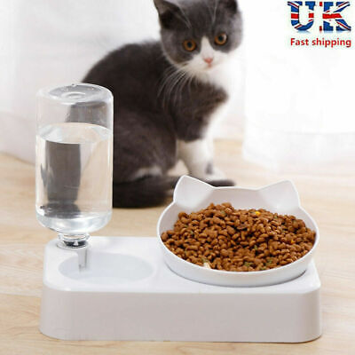 Automatic Pet Dog Cat Food Water Dispenser Feeder Self Feeding Bowl Bottle 600ML • 8.99£