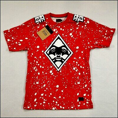 Evisu Custom Made T-Shirt | Medium | Red/Black/White | Rare • 50£