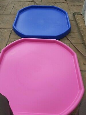 2 Large Plastic Builders PINK And BLUE MIXING TRAY Cement Mortar Sand Plastering • 30£