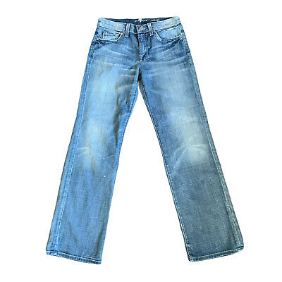 """AU41.07 • Buy 7 For All Mankind Blue Relaxed Bootcut Jeans Size 12 W28"""" L29"""""""