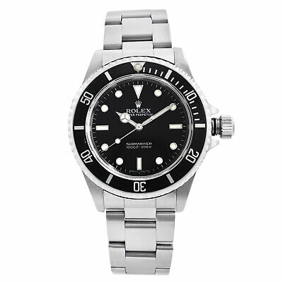 $ CDN12205.89 • Buy Rolex Submariner 40mm No-Date Steel Black Dial Automatic Mens Watch 14060M