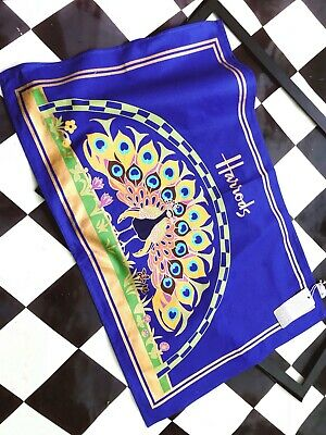£6.95 • Buy Harrods  Tea Towel  【 Peacock Feather 】 100% Cotton New   *discontinued*