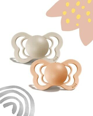 £4 • Buy BIBS Couture Pacifier Dummy   Anatomical Nipple   Size 1 And 2   NEW Colours