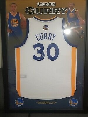 AU1900 • Buy Stephen Curry Signed Framed Golden State Warriors Jersey Nba Mvp
