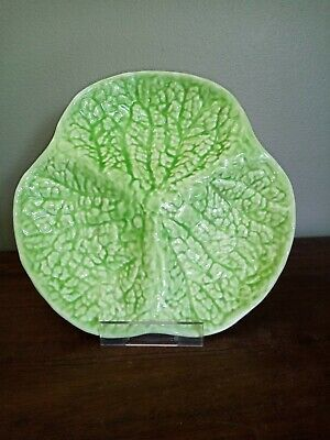 £10 • Buy Vintage, Green Cabbage Leaf Serving Dish Or Platter,  21cm, Three Sections