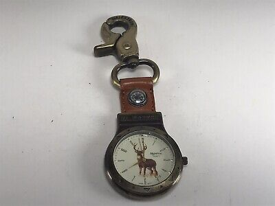 $12.50 • Buy Majestron Pocket Watch | Deer Theme | Not Working & Untested