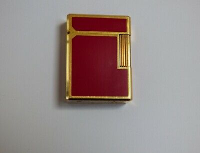 AU314.97 • Buy S T Dupont Line1 Small Lighter - Red Lacquer/Gold Plated Trim