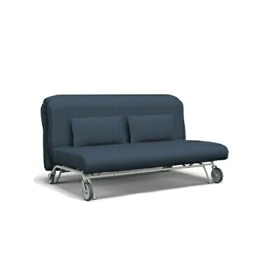 £50 • Buy (COVER ONLY) IKEA PS Denim Sofa Bed With 2 Pillows