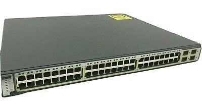 £19.99 • Buy Cisco Catalyst 3750 PoE WS-C3750-48PS-S 48 Port L3 Managed Stackable Switch CCNA