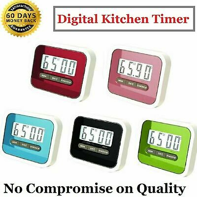 £3.49 • Buy Multifunctional Digital Kitchen Timer With Stand,Big Digits,Loud Alarm,Magnetic