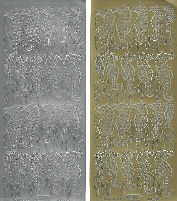 £1.95 • Buy Seahorse Peel Off Outline Stickers Card Making Craft Hobby Scrapbooking - 940