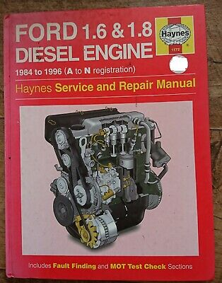 HAYNES SERVICE AND REPAIR MANUAL - Ford 1.6 & 1.8 Diesel Engine • 4£