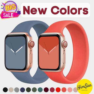 $ CDN3.13 • Buy Strap For Apple Watch Series 6 SE 5 4 3 42 44 Mm IWatch Silicone Solo Loop Band