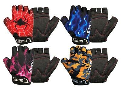 £4.99 • Buy Children Kids Boys Girls Padded Cycling Scooter Bmx Bike Gloves Cycle Bicycle