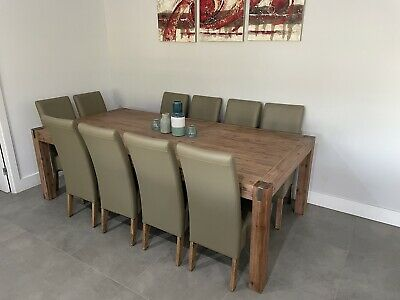 AU1500 • Buy 10 Seater Timber Dining Table And Chair Set