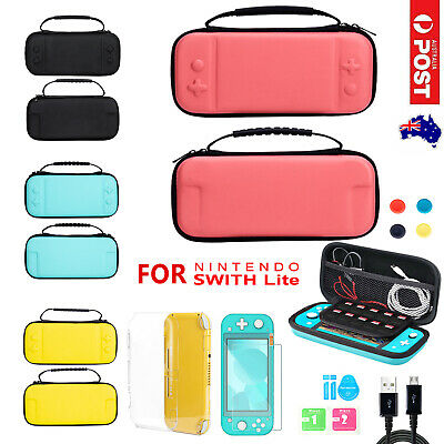 AU14.95 • Buy Carry Case Bag For Nintendo Switch Lite Cover+Screen Protector+Thumb Grip Caps