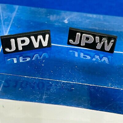 JPW Badge For Speaker Grill Or Cabinet - Pair, One Perfect, One Scratched • 29.99£