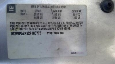 $50 • Buy Console Front Roof With Sunroof Fits 01-03 GRAND PRIX 3444372