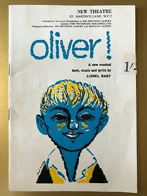 £4.75 • Buy Oliver With John Bluthal, Judy Bruce New Theatre Programme 1960 824c
