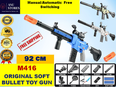 $87.99 • Buy New Electric Blaster Toy Gun M416 Crystal Kids Toy Gun With Toy Soft Bullets