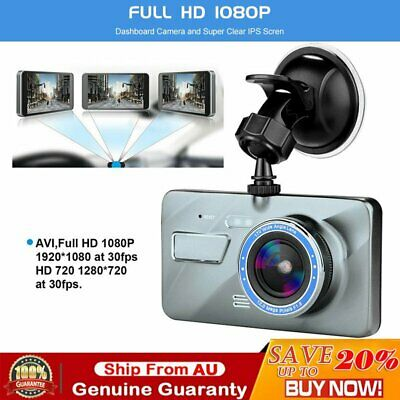 AU44.99 • Buy 1080P Car Dash Camera Front And Rear Dual Lens DVR Video Recorder Night Vision