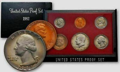 AU29.95 • Buy Mint Set 1982 United States Uncirculated Proof Set Of 5 Coins & Treasury Coin