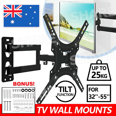 AU15.85 • Buy Full Motion TV Wall Mount Bracket Swivel Tilt 32 37 40 42 43 47 50 Inch LED LCD