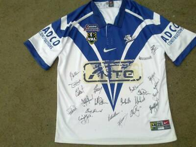 AU179.99 • Buy SIGNED 2001 Canterbury Bulldogs Rugby League Jersey