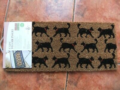 £8 • Buy Durable Natural Coir Doormat With Cats Decor.Can Be Used With Rubber Frame.