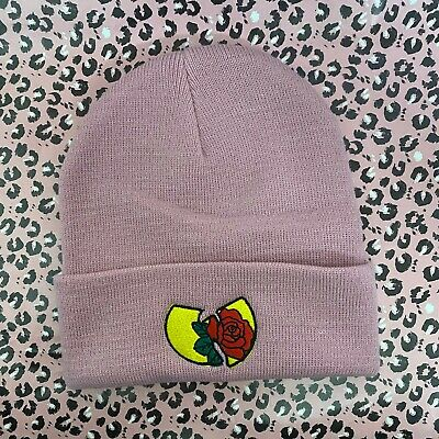 £12 • Buy Actual Fact Hip Hop Wu Roses Roll Up Dusky Pink Beanie Hat