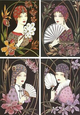 £3.95 • Buy Art Deco Ladies - A5 Pyramides Cardmaking Sheet Pack Of 7 Sheets - 416800W
