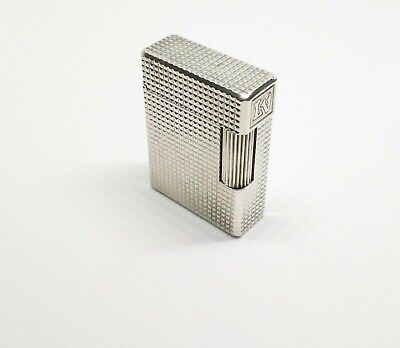 £99.12 • Buy Vintage S.T. Dupont Lighter Silver Plated Line 1 Small- Diamond Tip - Overhauled