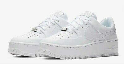 $ CDN125.87 • Buy Nike Air Force 1 Sage Low Sneakers Shoes Triple White Womens Size 12 AR5339 100