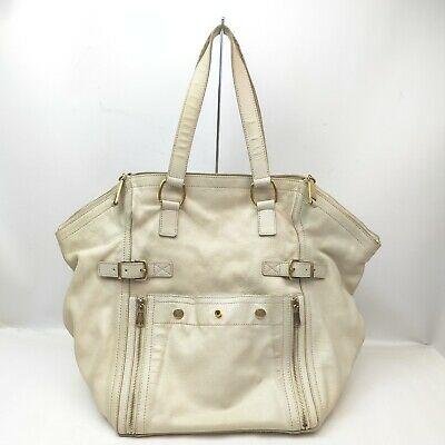 AU1.30 • Buy Yves Saint Laurent Tote Bag  Cream Leather 1518944