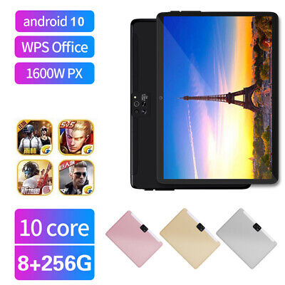 AU116.98 • Buy 10.1  4G LTE Android 10.0 Tablet PC 8+256GB Wifi 2.5D Four Cameras GPS Phablet