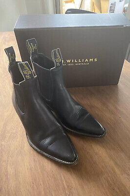 AU156 • Buy Ladies RM Williams Black Millicent Boots Size 6 With Box