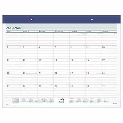 £16.14 • Buy Academic Desk Calendar 2021-2022,  Desk Pad Two Color 2022 New Edition