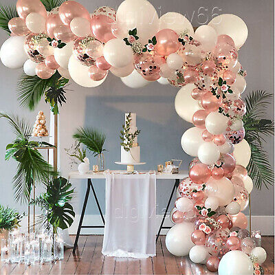 £8.81 • Buy Rose Gold Balloon Garland Arch Kit For Birthday Wedding Baby Shower Party Decor