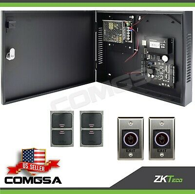 AU334.26 • Buy Access Control 2 Door Zkteco, C3 200 Door Entry System Kit ZK, Exit Montion.USA