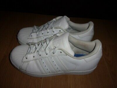 AU14.21 • Buy Adidas Superstar Foundation White Leather Ladies Trainers Size 4