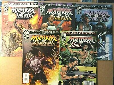 WOLVERINE / THE PUNISHER  #1-#5 Complete Series  Marvel Knights 2004  • 5.99£