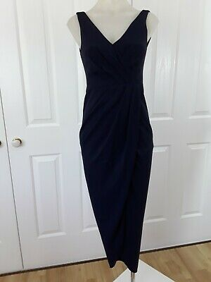 AU48.63 • Buy Forever New Ladies Maxi Dress Formal Cocktail Party Navy Pleated Size 6 -8 BNWOT