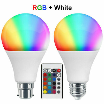 £7.94 • Buy RGB 16 Colour Changing Remote Controlled LED Light Bulb 15W B22 Or E27 A80 GLS