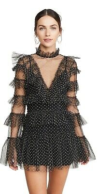 AU225 • Buy Alice Mccall Tokyo Mini Dress Black Size 12 (fits A 10 And A 12)