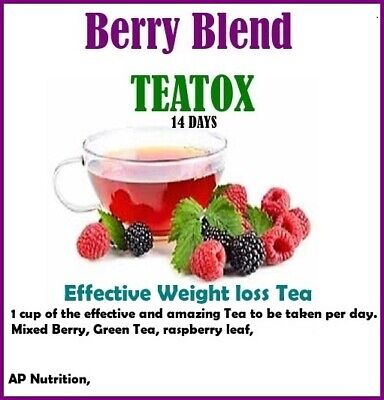 £10 • Buy 14 Day Berry Blend Teatox Day Detox - Fast Weight Loss Slimming Burn Fat Tea