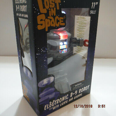 $ CDN148.61 • Buy LOST IN SPACE B9 ELECTRONIC Robot 11 Inch Tall~ Lights & Sounds